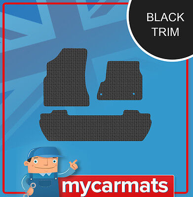 Quality Rubber Car Mats with Black Trim For Peugeot Partner Tepee (2008-On) 2142