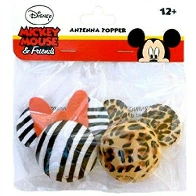 Minnie Mouse Zebra and Mickey Mouse Leopard Antenna Toppers