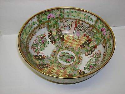 RARE ANTIQUE LARGE CHINESE DECORATED BEAUTIFUL BOWL