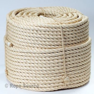 NATURAL SISAL DECKING ROPE 6mm 8mm 10mm 12mm 14mm 16mm 18mm 20mm 24mm 28mm