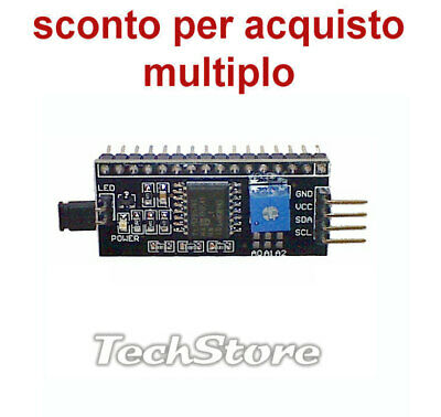 N.1 Convertitore Expander seriale Bus I2C con PCF8574T per Display LCD Arduino