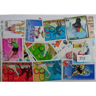 Sport, 50 stamps, all different (310)