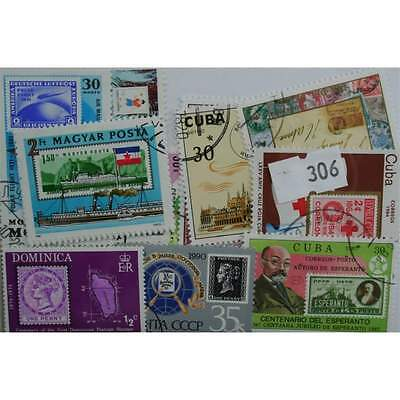 Stamp on stamps, 25 stamps, all different (306)