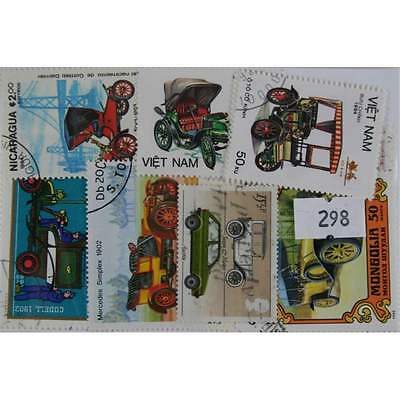 Vintage cars, 25 stamps, all different (298)