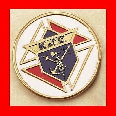 ~EXCELLENT KofC KNIGHTS OF COLUMBUS AUTO BADGE-CAR EMBLEM,MOTORCYCLE +FREESHIP!~