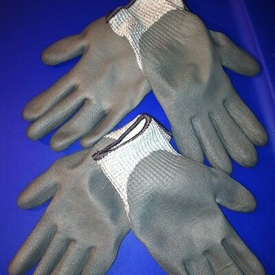 ROC BY MAGID #4541 Size -6 Polyurethane/Polyester Gloves *2 Pair* Coated/Fitted