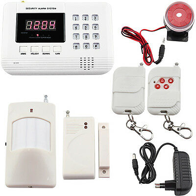 Wireless Home Auto Dialer LCD Sensor Security Remote Alarm System Available