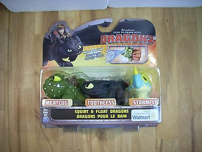 DreamWorks How To Train Your Dragon 2--Squirt and Float Dragons-New