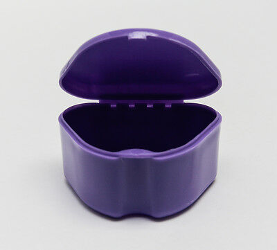 Orthodontic Retainer Apnea Mouthguard Bleaching Tray Case Box 1Pc Purple