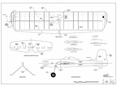 """Model Airplane Plans  Veco Profile TOMAHAWK 40"""" wing"""