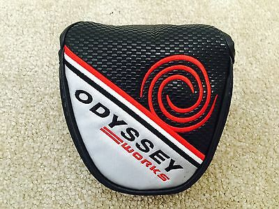 Original ODYSSEY WORKS Red & Black MALLET MAGNETIC CLOSURE PUTTER HEAD COVER