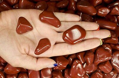 1 Pound Tumbled Red Jasper - 'AA' Grade - Wire Wrapping, Reiki, Crystal Healing