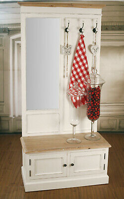 Hall Stand with Mirror French Provincial Furniture Coat Rack Hat Stand Hooks NEW