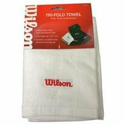 **NEW** Wilson Tri-Fold golf Towel -white- three times as absorbent!