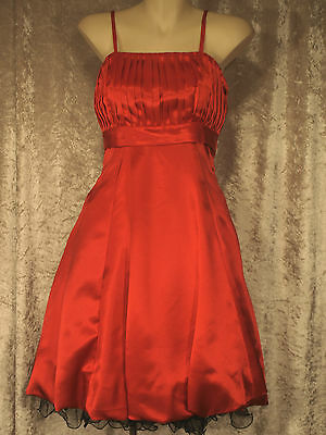 Leaver's Prom Formal Satin 1950's Style Party Dress with Full Gathered Skirt M