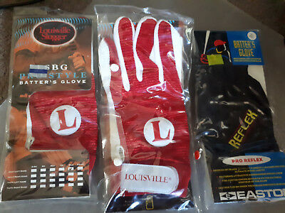 Baseball Batting Gloves Easton And Louisville Mens X-Large X 2 And 1 Xxl New