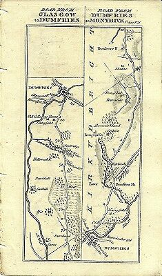 Antique map, Glasgow to Dumfries (3)