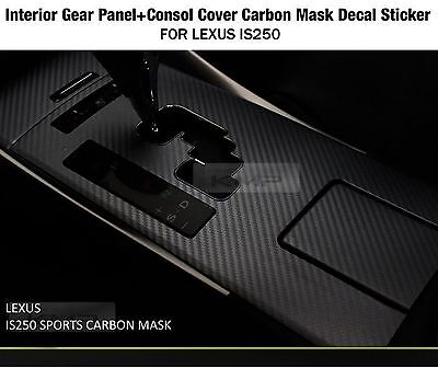 Gear Panel + Console Cover Carbon Decal Sticker for LEXUS 2006-2013 IS250 IS350