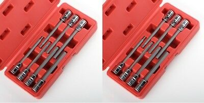 3/8 METRIC and SAE Extra Long Hex Allen Bit Socket Set 14pc w Case NEW FREE SHIP