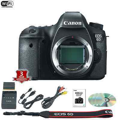 Canon EOS 6D DSLR Camera Body + 3yr Extended Warranty - BRAND NEW