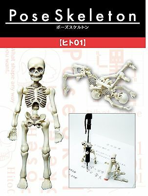 Re-ment Miniatures Pose Skeleton Poseskeleton Human Set Figure Japan New Arrival