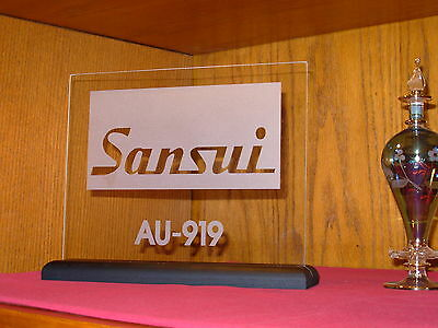 SANSUI AU-919 INTEGRATED AMP ETCHED GLASS SIGN