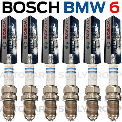 6PC BMW Spark Plugs Bosch OEM Platinum+4 Factory High Power Set E39/E46-M54 NEW