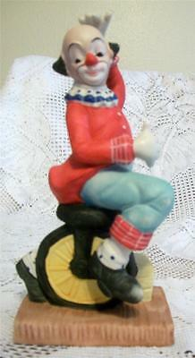 "Happy 8"" Clown on Unicycle - 25 Yrs. Old - So Cute!"