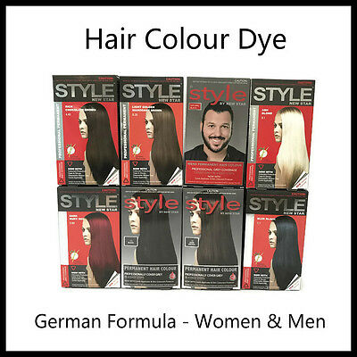 New Style Newstar Hair Colour Dye Permanent German Formula (Assorted Colours)