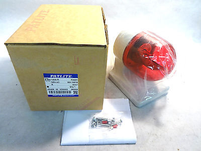 New In Box Patlite Wh-120A-R Red Dome Light