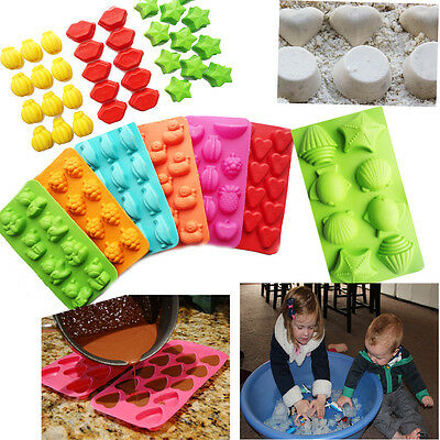 Silicone Fancy Ice Cube Tray Easy Pop Up Jelly Mould Star Fruits Heart Duck Lips