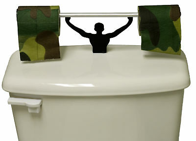 Camouflage Toilet Paper W/ Strong Man Holder Military Camo Gift Set
