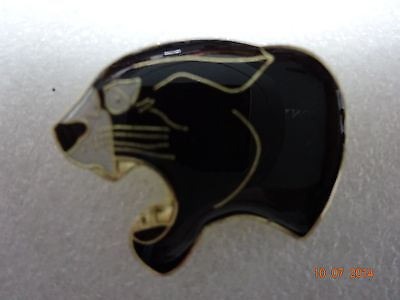 Black cat Panther  head  lapel pin New!!