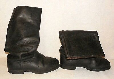 Vintage Russian Soviet Military Army Officer Leather Boots USSR Size 42 ,US 10