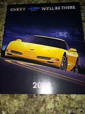 "2002 Chevy Cars ""Full Line"" 24-page Original Sales Brochure"