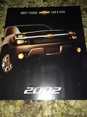 "2002 Chevy Trucks ""Full Line"" 32-page Original Sales Brochure"