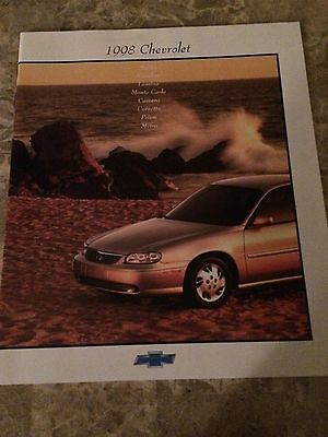 "1998 Chevrolet Cars ""Full Line"" 20-page Original Sales Brochure"