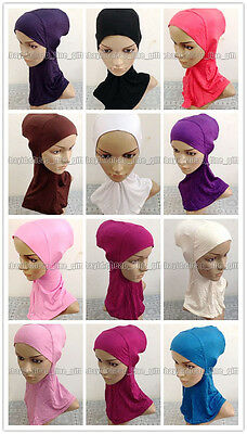 Middle East Muslim 100% Cotton Ninja Hijab Inner Caps Islamic Underscarf Hats