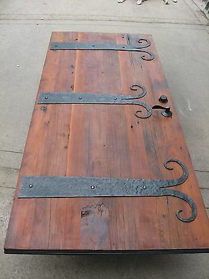 "Artisan Built Recycled Antique Old Growth Redwood Door 36""x79"""