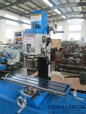 WMD25V High precision vertical drilling and milling machine 1000W 220V