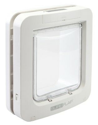 GENUINE Sureflap Microchip Pet door Large Catflap Small Dog Big Cats WHITE