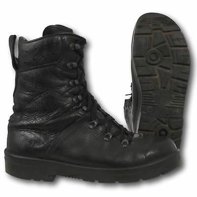 German Army Para Boots Genuine Military Surplus Black Leather Paratrooper Combat