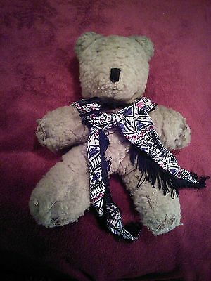 "MUCH LOVED OLD ANTIQUE/VINTAGE 1947 STUFFED TEDDY BEAR 15"" TALL"