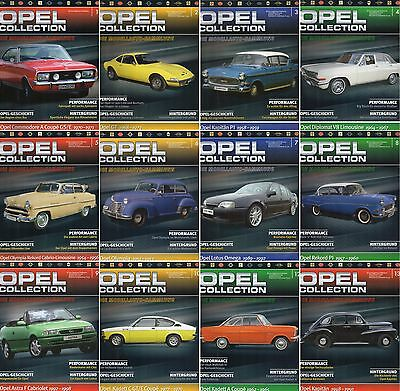 Opel Collection-Begleitheft-Sammlung-General Motors-Oldtimer-De Agostini Nr.1-60