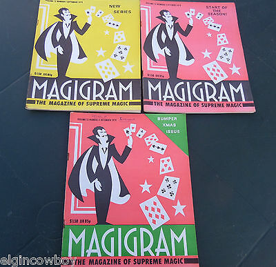 SUPREME MAGIC MAGIGRAM MAGAZINES(3) Vol 12 no 1,2 4 1979