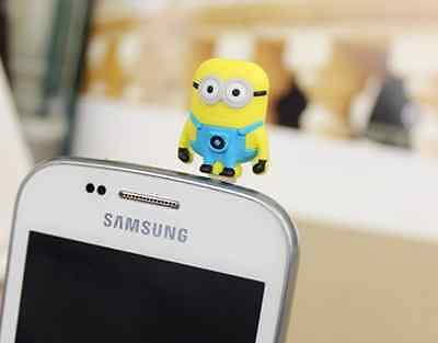 Cute Yellowman Anti Dust Plug Cover Charm for Iphone/Android 3.5mm
