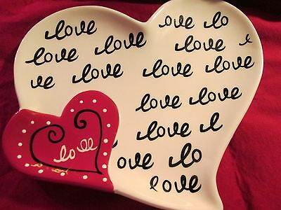 Love Heart Plate Valentines Decor