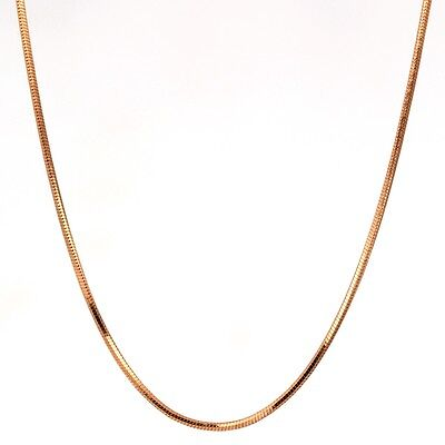"Kids Children 18K Gold Filled Thin Snake Chain Necklace Fashion Jewelry 14"" Gift"