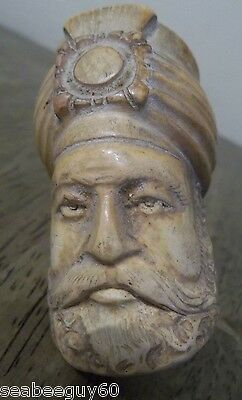 UNIQUE~ORNATE Sultan Figural Meerschaum Pipe-Excellent details-MADE in TURKEY