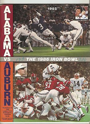 1986 Auburn Tigers vs. Alabama Crimson Tide Program Bo Jackson A31